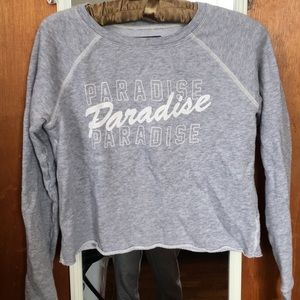 american eagle paradise crewneck grey sweatshirt